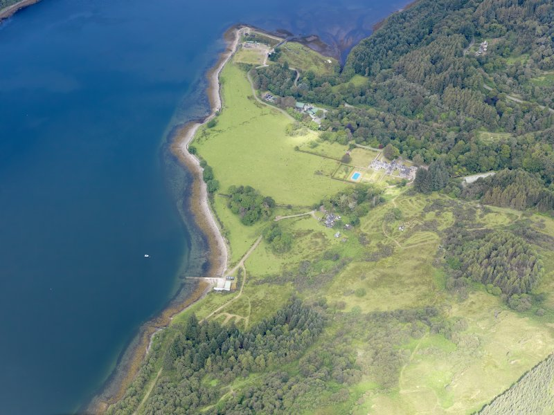 General oblique aerial view of Ardtaraig Country House, taken from the SE.