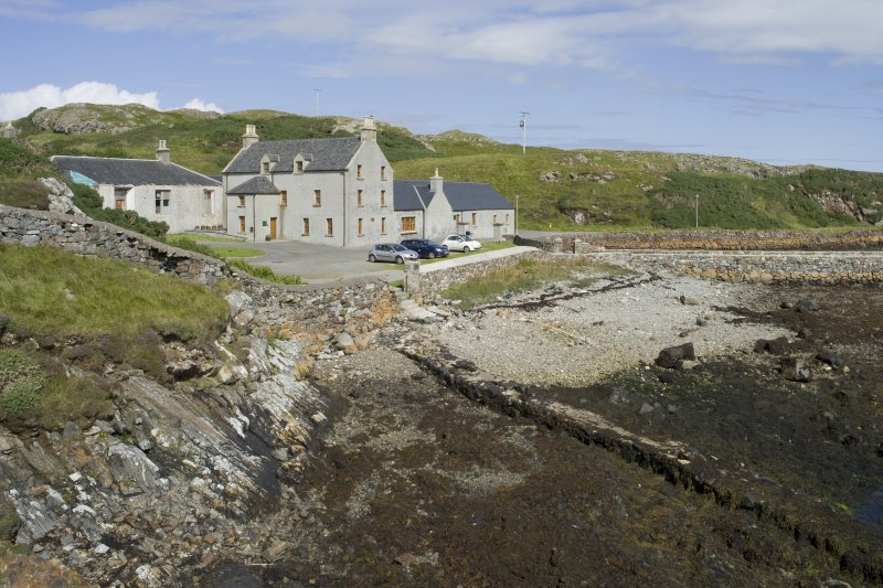 General view of Rodel Hotel, Harris, from south-west.