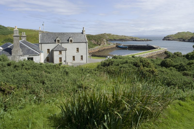 View of Rodel Hotel, Harris, from west.