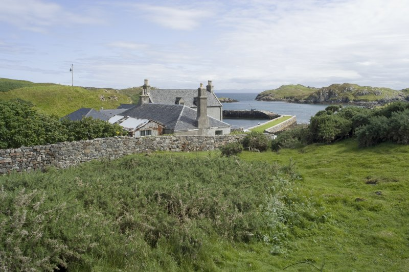 General view of Rodel Hotel, Harris, from west-north-west.