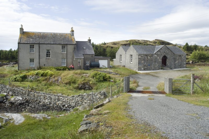 General view of Manish Free Church and manse, Harris, from east-north-east.
