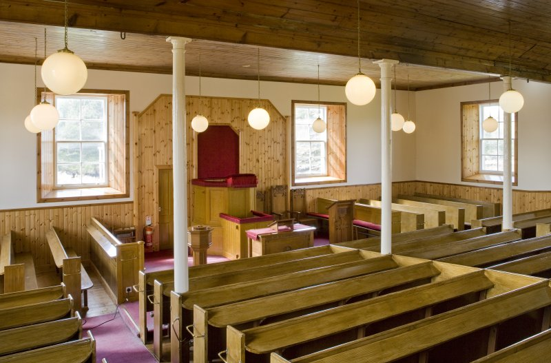 Interior view of Manish Free Church, Harris.