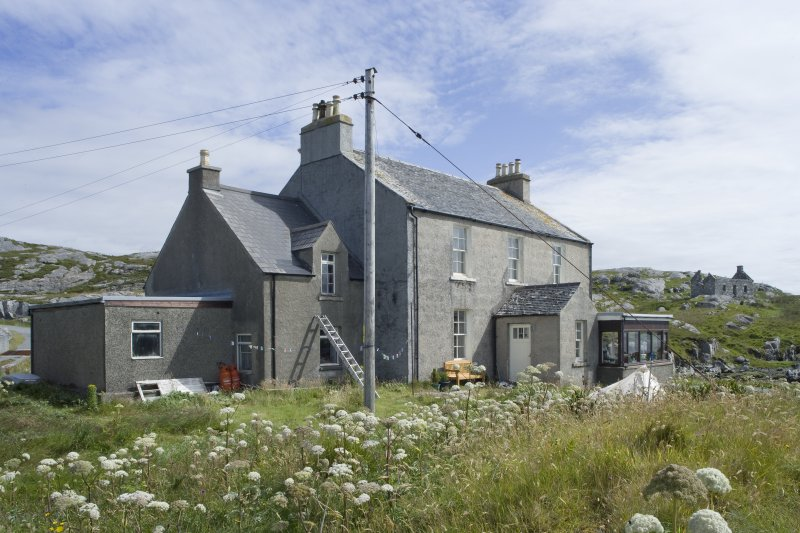 View of manse at Manish Free Church, Harris, from west-south-west.