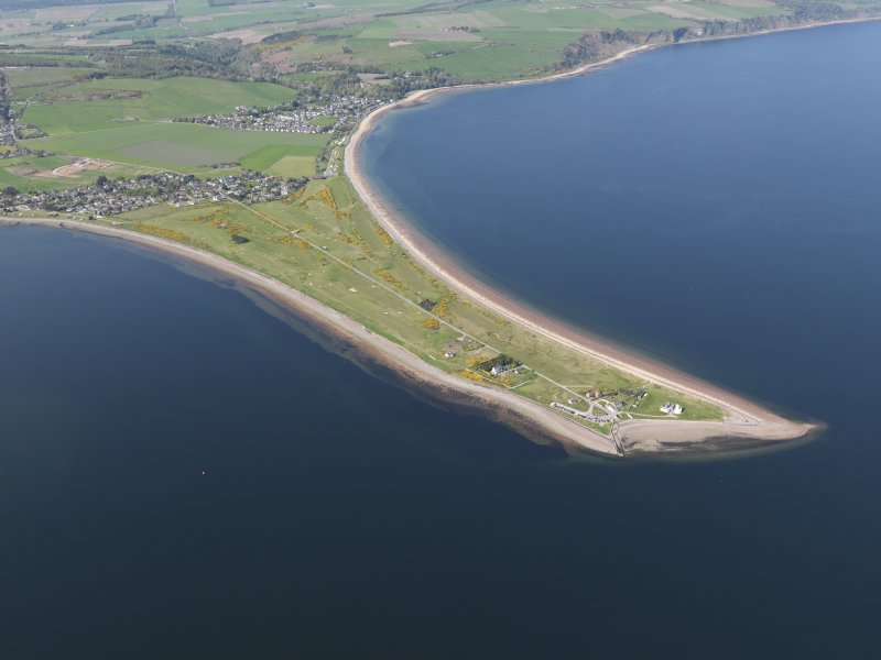 General oblique aerial view of Fortrose and Rosemarkie Golf Course, taken from the S.