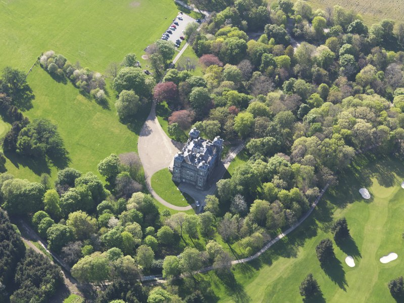 Oblique aerial view of Duff House, taken from the E.