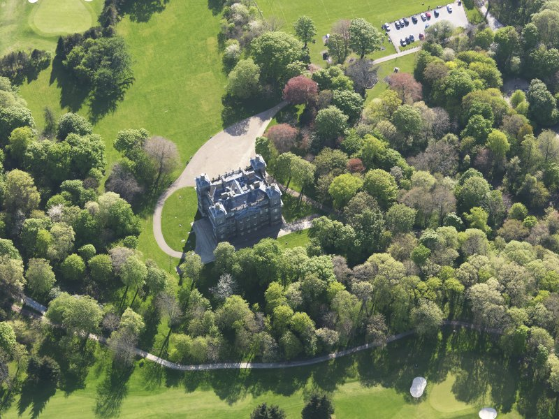 Oblique aerial view of Duff House, taken from the NE.