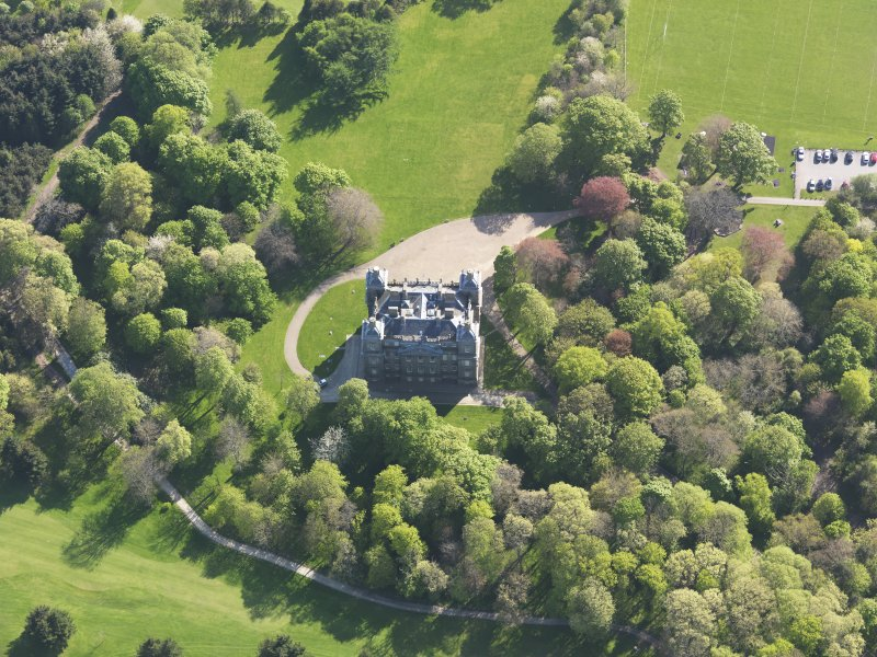 Oblique aerial view of Duff House, taken from the NNE.