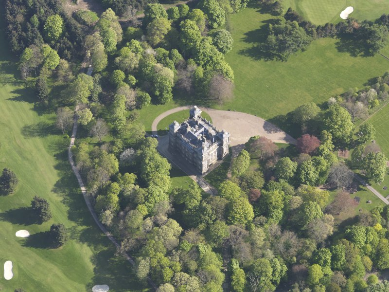 Oblique aerial view of Duff House, taken from the NNW.