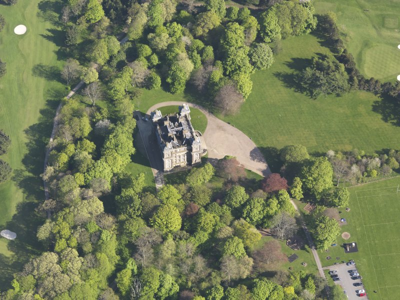 Oblique aerial view of Duff House, taken from the NW.