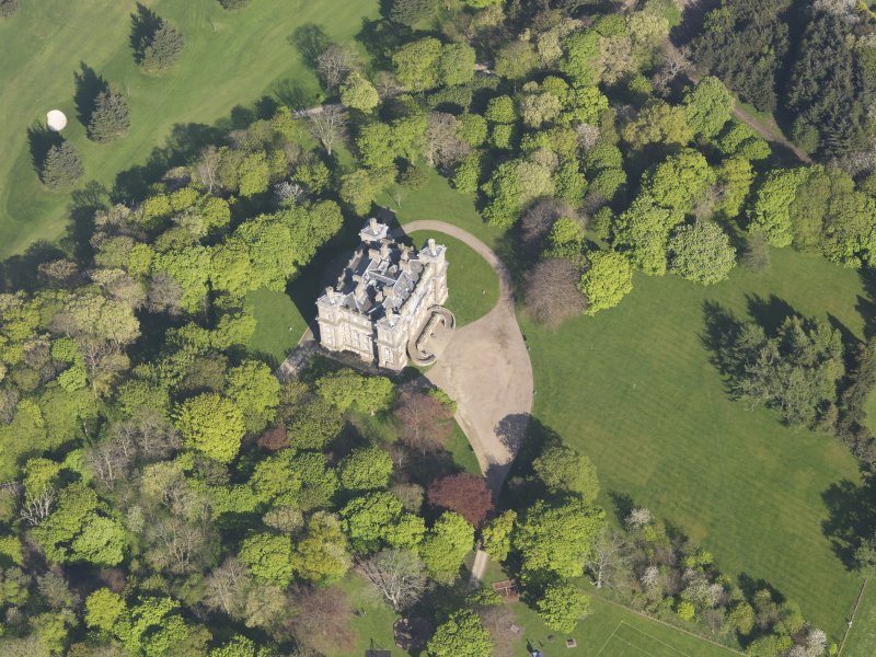 Oblique aerial view of Duff House, taken from the W.