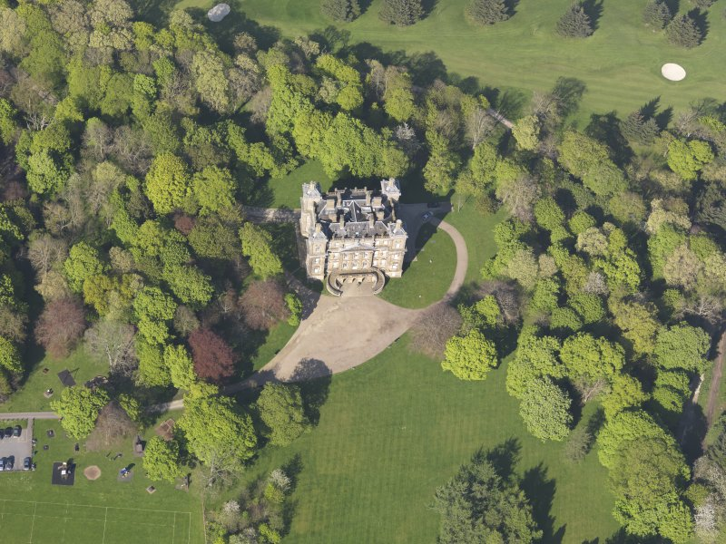 Oblique aerial view of Duff House, taken from the SSW.