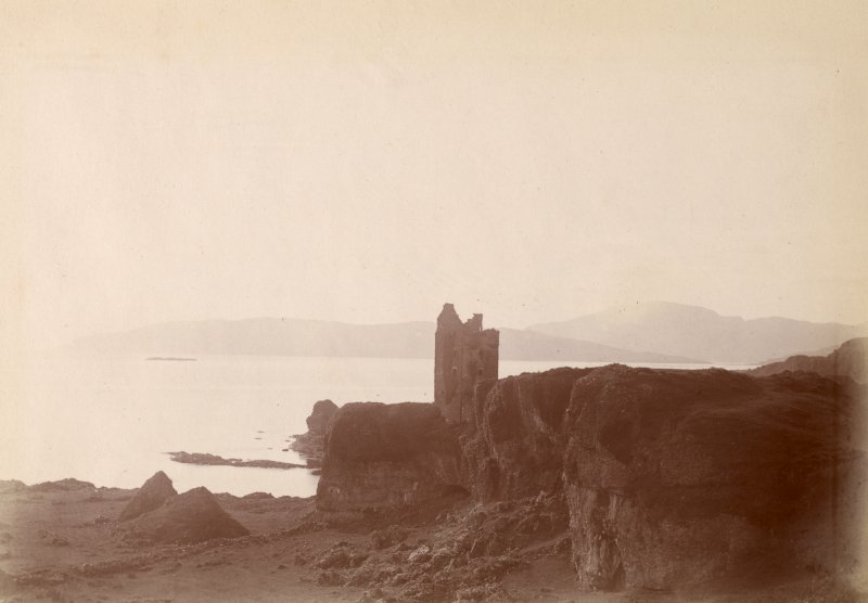 Distant view of castle. Titled: 'Gylen Castle.'