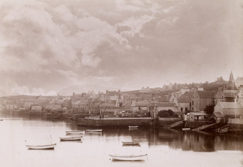 General view of town and harbour. Titled: 'Stromness.'