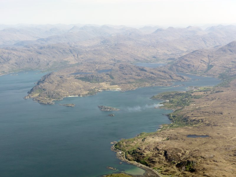 General oblique aerial view of Loch Ailort, taken from the W.