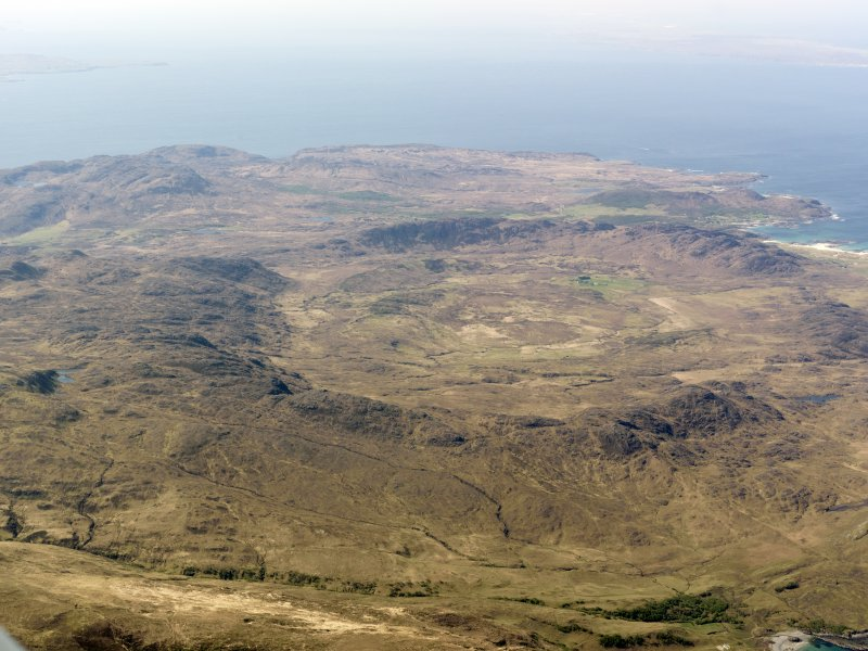 General oblique aerial view of the Ardnamurchan Peninsula, centred on the Caldera, taken from the NE.