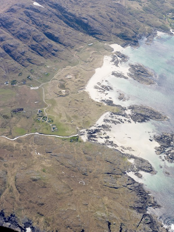 General oblique aerial view of Sanna, taken from the N.