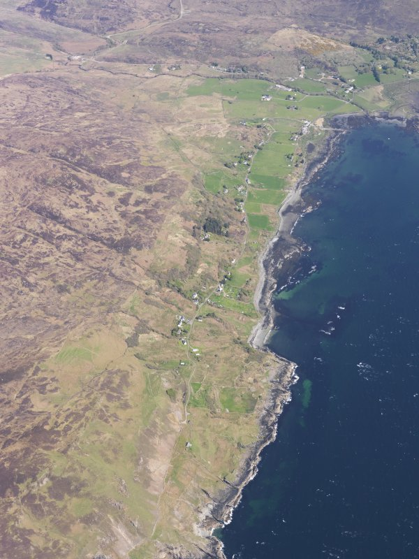 Oblique aerial view of Ormsaigbeg and Kilchoan, taken from the SSW.