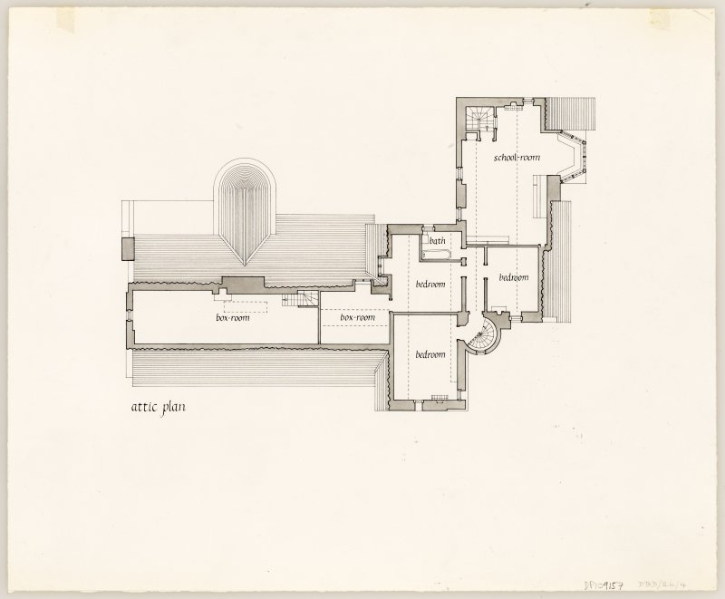 Hill House Attic plan Titled: 'attic plan'