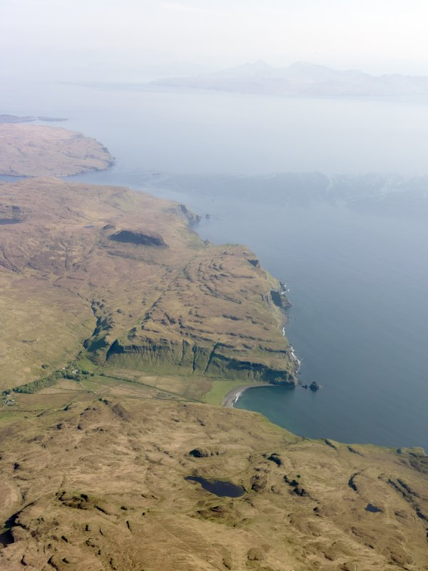 General oblique aerial view of Talisker Bay and the W coast of the Minginish peninsula, Isle of Skye, taken from the N.