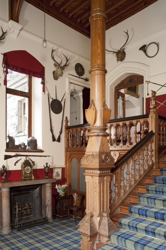 Interior. Ground floor, staircase hall, view from east