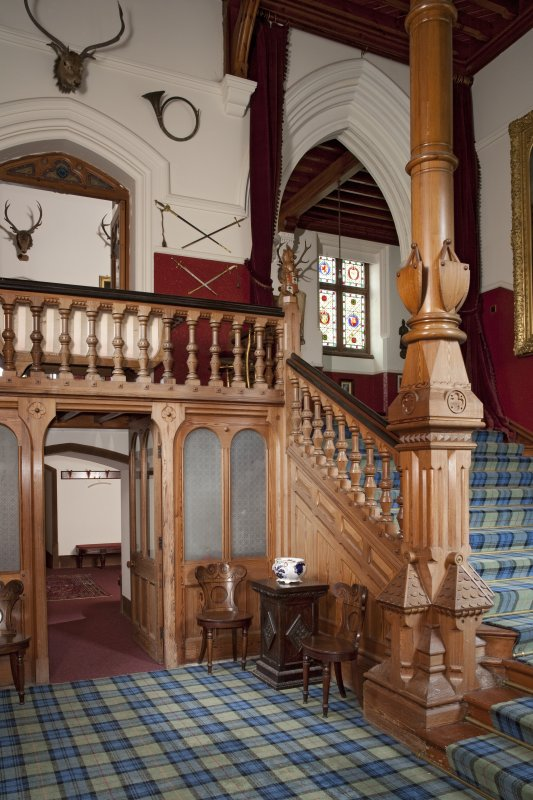 Interior. Ground floor, staircase hall, view from south