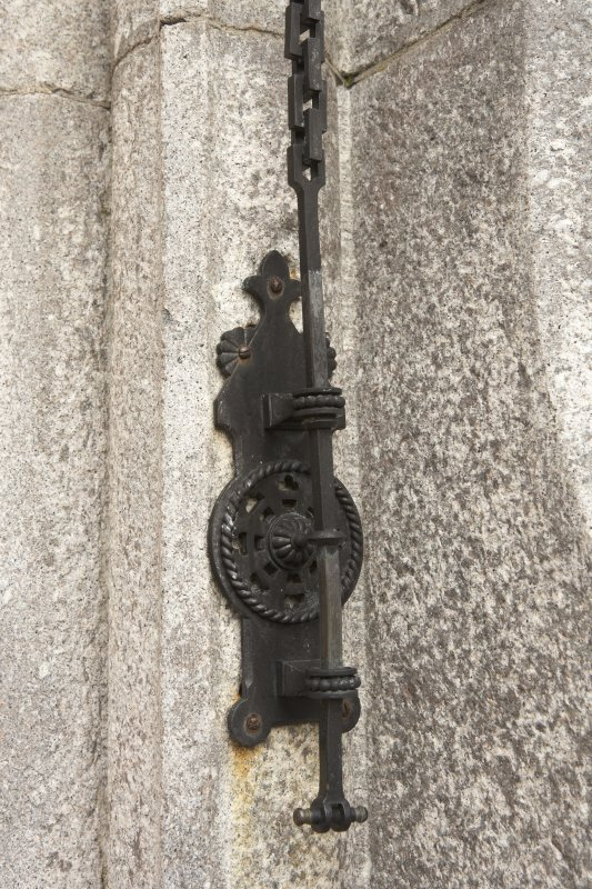 Main southeast  entrance, detail of bell pull
