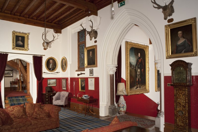 Interior. First floor, upper hall, view from southwest