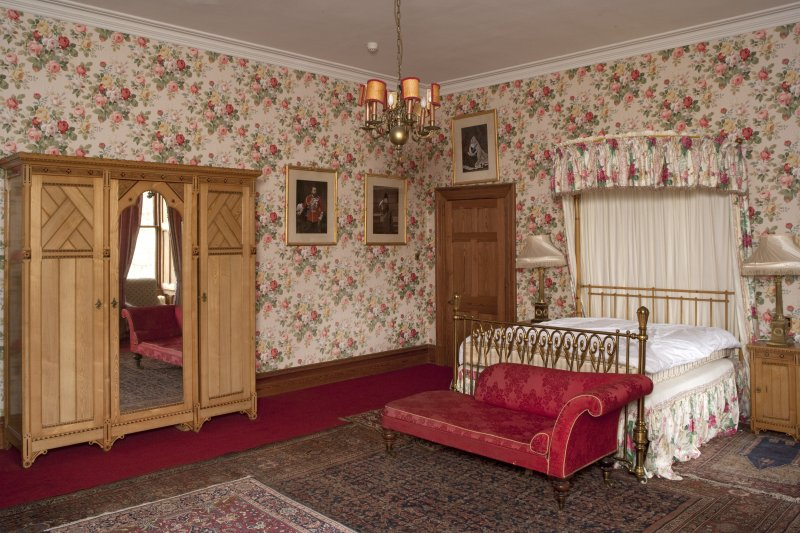 Interior. Second floor, Prince's room, view from southwest
