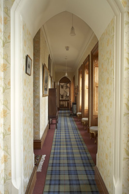 Interior. Second floor, summer wing corridor, view from south