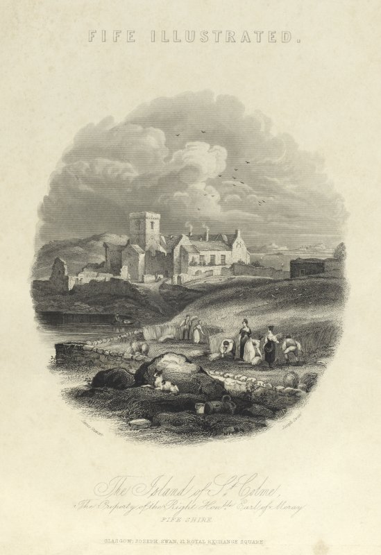 The Island of St Colme. The Property of the Right Honorable Earl of Moray.  Fife-shire.
