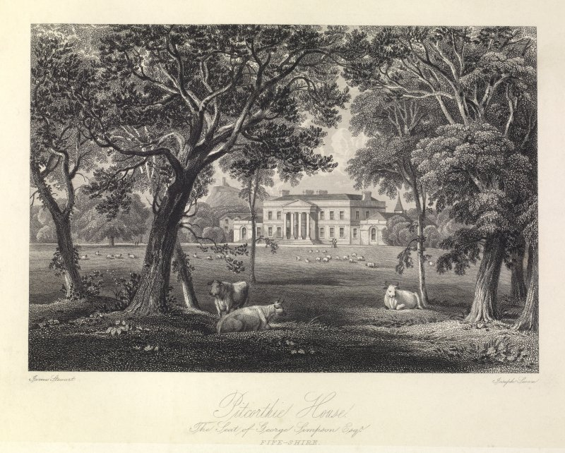 Pitcorthie House - The Seat of George Simpson Esq. Fife-shire.