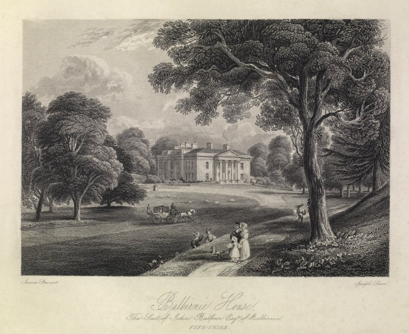 Balbirnie House - The Seat of John Balfour Esq of Balbirnie.        Fife-shire.