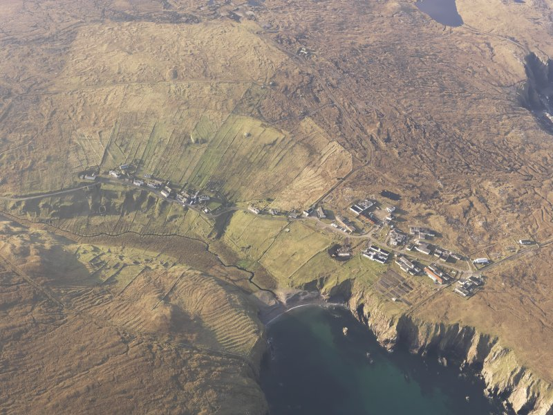 Oblique aerial view of Aird Uig, taken from the E.