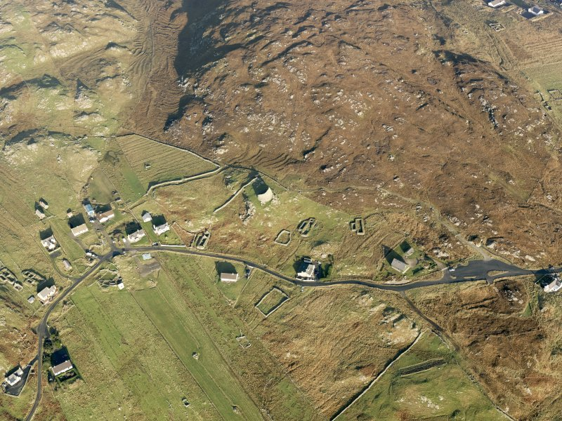 Oblique aerial view of Dun Carloway, taken from the S.