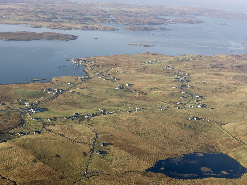 General oblique aerial view of Breasleit, taken from the E.