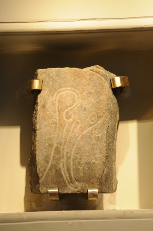 Inveravon Pictish Symbol Stone 3, relocated inside the church porch