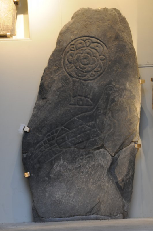 Inveravon Pictish Symbol Stone 1, relocated inside the church porch
