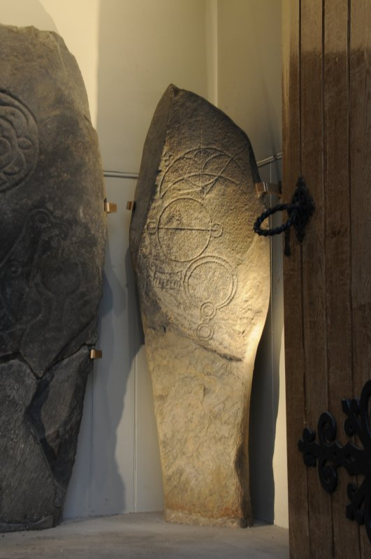 Inveravon Pictish Symbol Stone 2, relocated inside the church porch