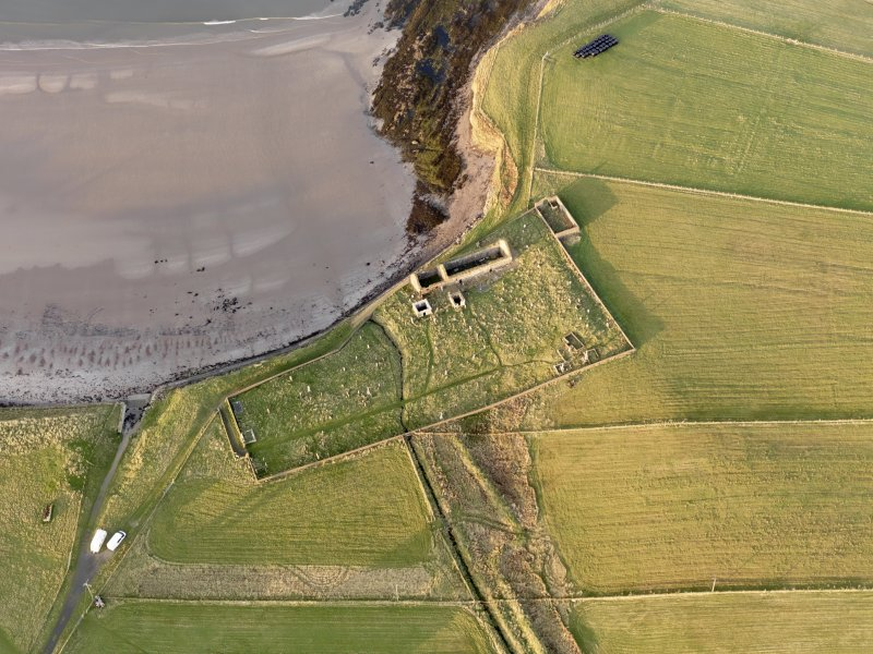 Oblique aerial view of St Columba's Church, taken from the S.