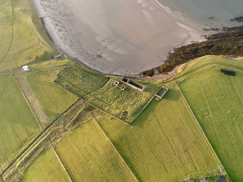 Oblique aerial view of St Columba's Church, taken from the SE.