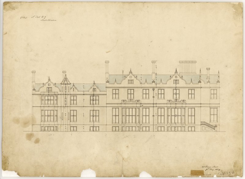 South elevation Title: St Fort No. 6, South Elevation