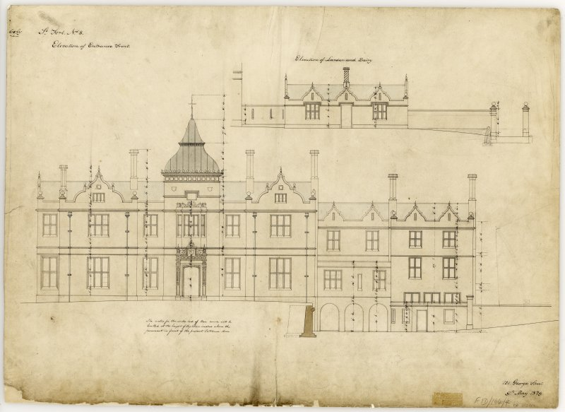 Front Elevation Title: St Fort No.5, Elevation of Entrance Front