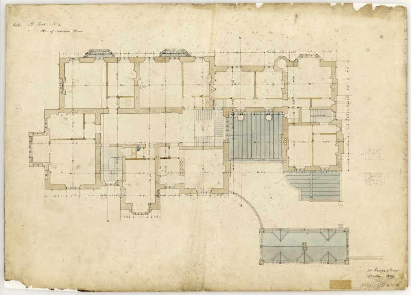 Floor Plan  Title:  St Fort No. 4, Plan of Bedroom Floor
