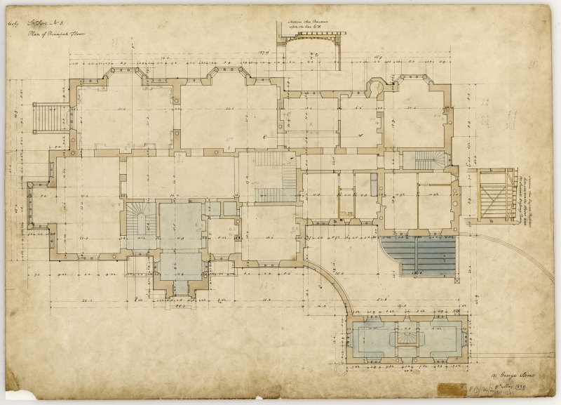 Plan of principal floor Title: St Fort, No 3, Plan of Principal Floor