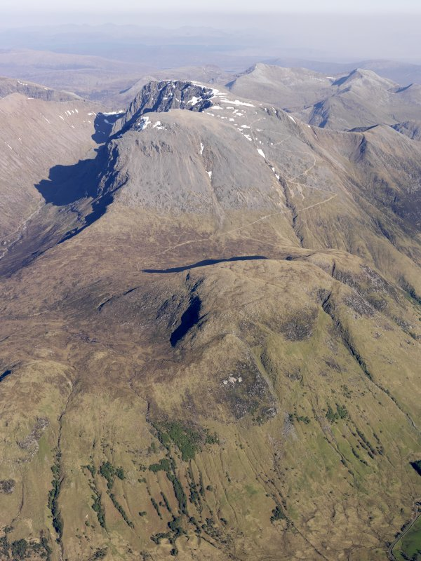 General oblique aerial view of Ben Nevis, taken from the WNW.