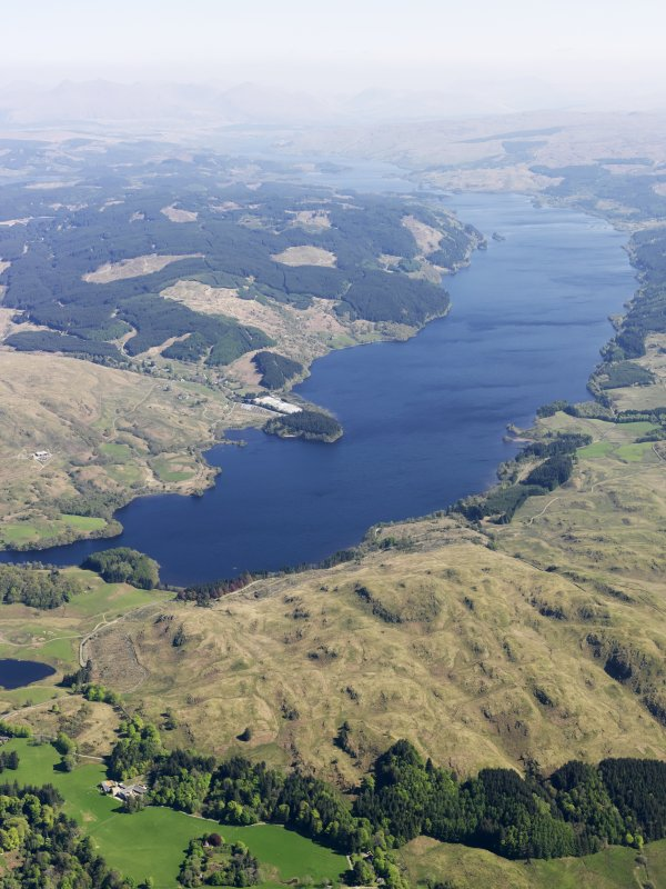 General oblique aerial view of Loch Awe, taken from the SSW.