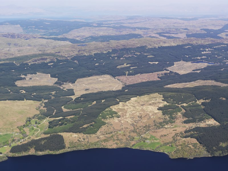 General oblique aerial view of N side of Loch Awe, taken from the SSE.