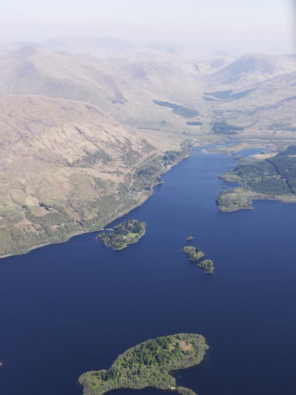 General oblique aerial view of Lag na Luinge, Loch Awe, taken from the SW.