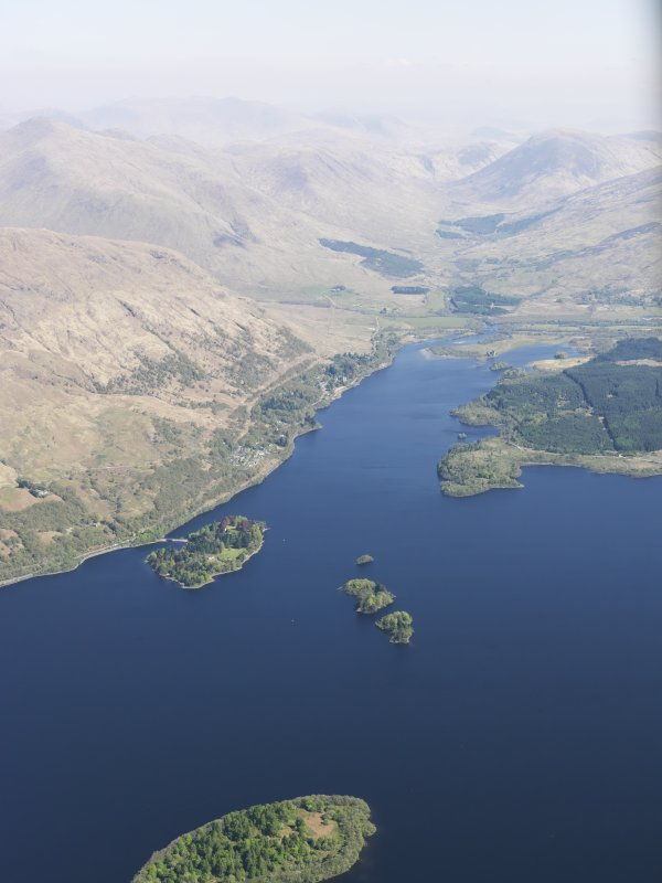 General oblique aerial view of Lag na Luinge, Loch Awe, taken from the SSW.
