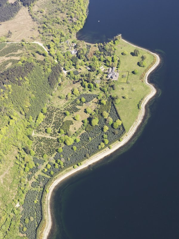 General oblique aerial view of Minard Castle, taken from the SW.